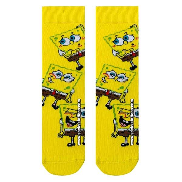 Sarı Sünger Desenli Çorap