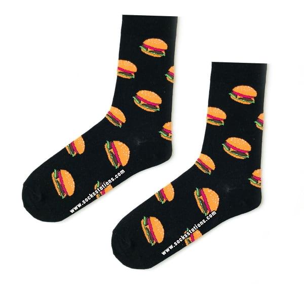Siyah Hamburger Çorap