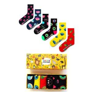 6'li Renkli Çocuk Çorap Kutusu