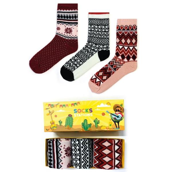 3'lü Yün Renkli Çorap Kutusu