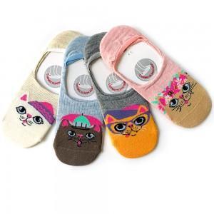 4'lü babet kedili çorap kutusu