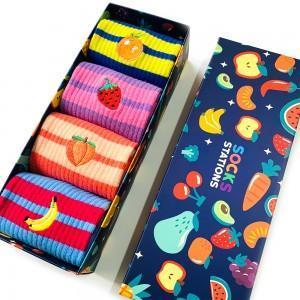 4'lü Meyve Nakışlı Çorap Kutusu 2