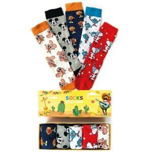 5'li Gumball Desenli Renkli Çorap Kutusu