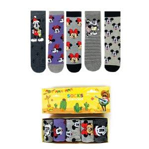 5'li Mickey Mouse Renkli Çorap Kutusu