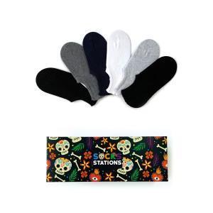 6'lı Düz Renkler Bilek Çorap Kutusu