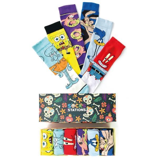 6'lı Patrick Renkli Çorap Kutusu
