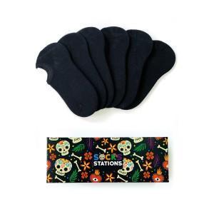 6'lı Siyah Bilek Çorap Kutusu