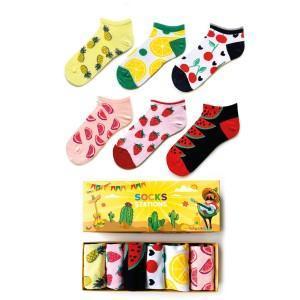 6li Meyveli Bilek Çorap Kutusu