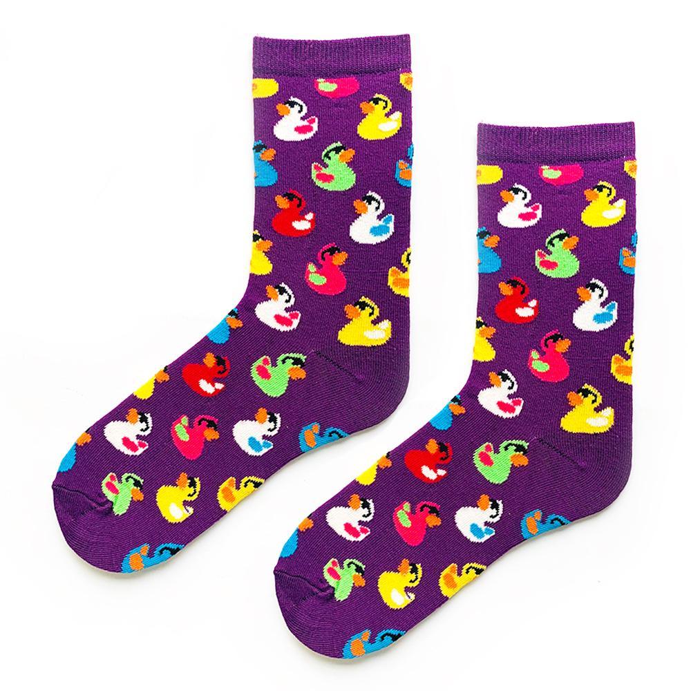 Mor renkli ördek çorap