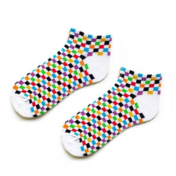 Renkli Minik Damalı Çorap