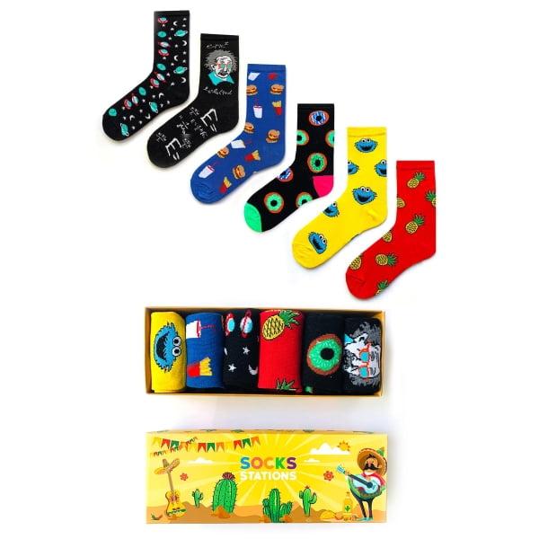 6'li Renkli Çocuk Çorap Kutusu 3