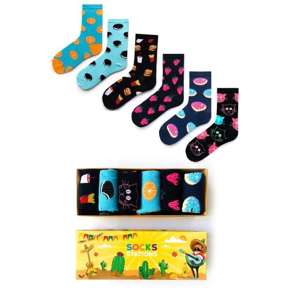 6'li Renkli Çocuk Çorap Kutusu 4