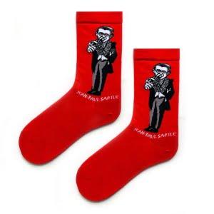 Jean Paul Sartle Kırmızı Sanatsal Çorap