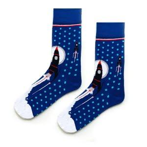 (42-46) Erkek Mavi Uzay Çorap
