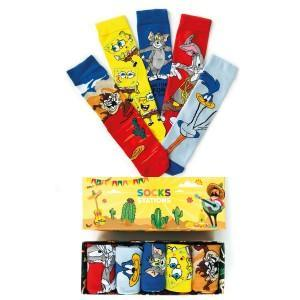 5'li Tazmanya Canavarı Renkli Çorap Kutusu
