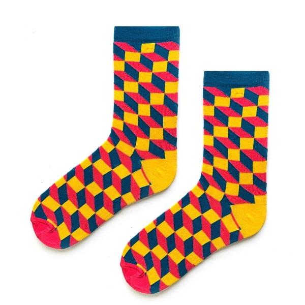 3D Sarı Mavi Çorap