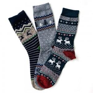 3'lü Yün Çorap Kutusu 2