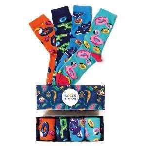 4'lü Party Desenli Çorap Kutusu