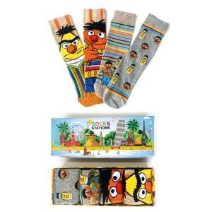 4'lü Edi Büdü Desenli Renkli Çorap Kutusu