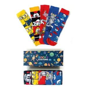 5'li Minion Desenli Çorap Kutusu