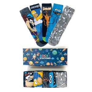 5'li Homer Desenli Çorap Kutusu