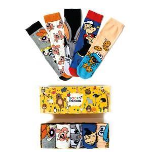 5'li Bugs Bunny Desenli Çorap Kutusu