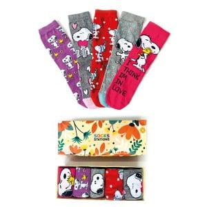 5'li Snoopy Desenli Çorap Kutusu