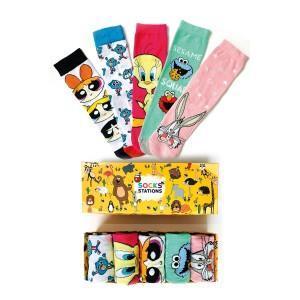 5'li Tweety Desenli Renkli Çorap Kutusu