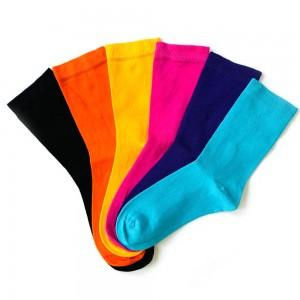 6'lı pastel renkler bambu çorap kutusu