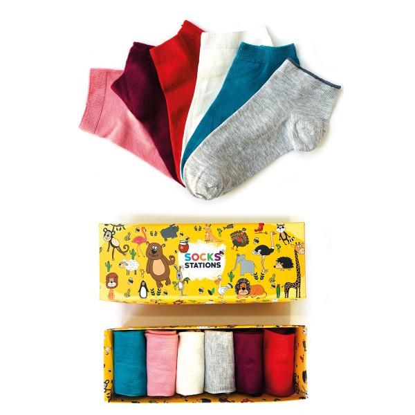 6'lı Bambu Pastel Renkler Bilek Çorap Kutusu