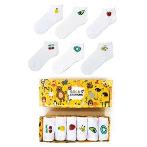 6'lı Meyve Şöleni Bilek Çorap Kutusu