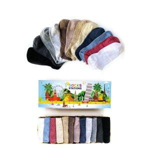12'li Pastel Renkler Bilek Çorap Kutusu 2