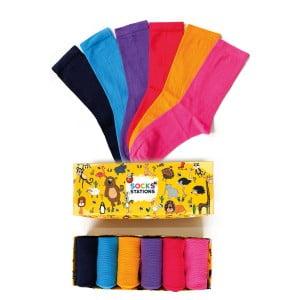 6'lı Pastel Renkler Çorap Kutusu 2