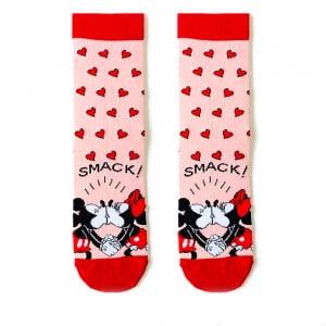 Pembe Kalpli Mickey Mouse Çorap