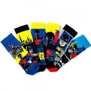 6'lı Superman-Batman Çocuk Çorap Kutusu