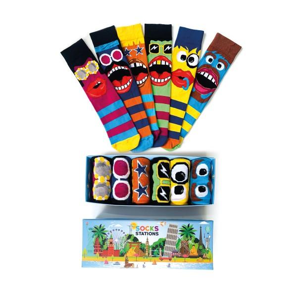 (42-46) 6'li Erkek Kostümlü Parti Çorap Kutusu