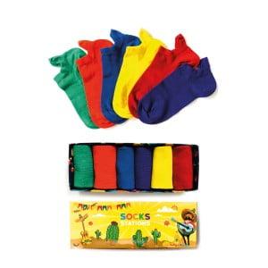 6'lı Renkli Bilek Çorap Kutusu