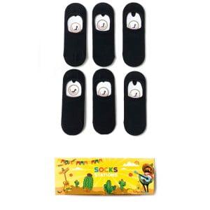 6'lı Siyah Babet Çorap