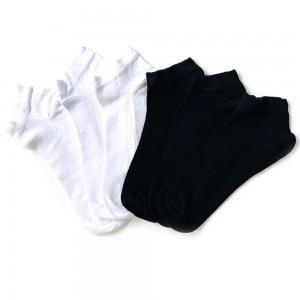 6'lı Bambu Siyah Beyaz Bilek Çorap Kutusu