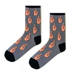Gri Parmak Çorap
