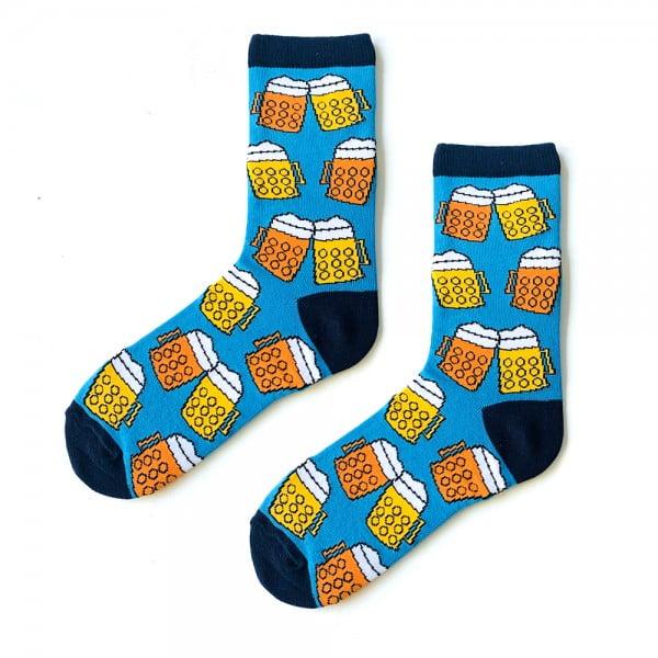 Biralı Mavi Çorap