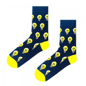 (42-46) Erkek Ampul Lacivert Çorap