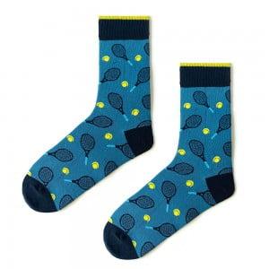 (42-46) Erkek Tenis Mavi Çorap