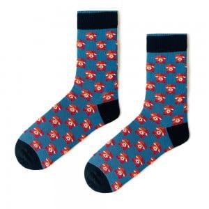 (42-46) Erkek Telefon Mavi Çorap