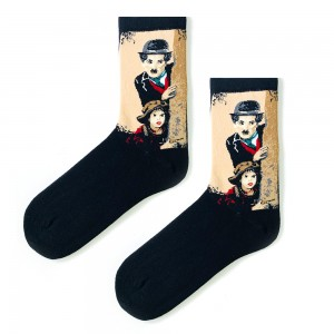 Siyah Charlie Chaplin Çorap