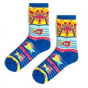 Güneş Desenli Çorap