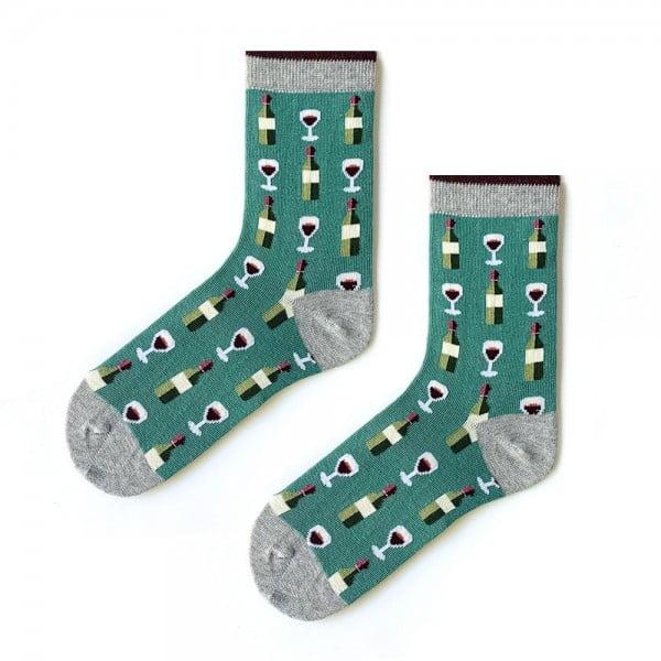 (42-46) Erkek Yeşil Kadeh Çorap