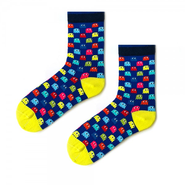 (43-47) Erkek Renkli Pacman Desenli Çorap