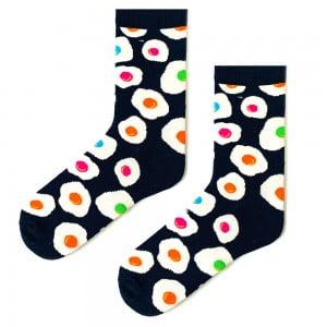 Renkli Yumurta Desenli Çorap