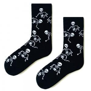Siyah İskelet Çorap